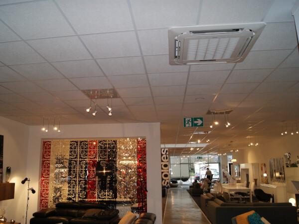 Climatisation d'un magasin de décoration XXL